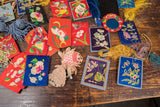 Lot of Chinese Chinese Textiles and Mirrors