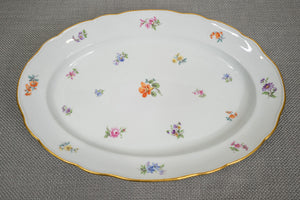 "Meissen ""Scattered Flowers"" Large 18"" Serving Platter"