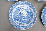 "Spode ""Engravers Collection"" Blue Dinner Plates Set of 5"