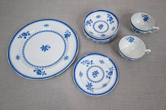 "Copeland Spode ""Spodes Gloucester Blue"" Plates and Bowls Set of 10"