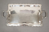 "Peruvian Sterling Silver Waiters Platter 28 3/4"" Handle to Handle 2445 Grams"
