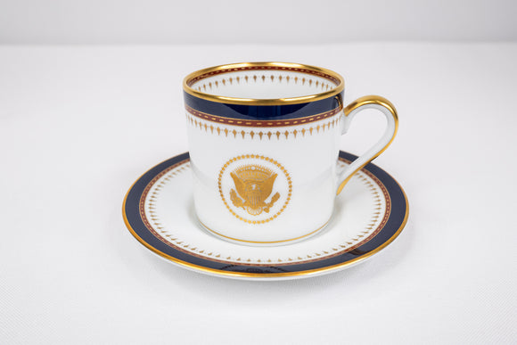 Presidential Ronald Reagan White House China Service Fitz Floyd Demitasse Cup & Saucer