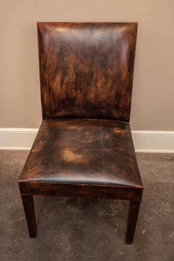 Contemporary Leather Side Chair