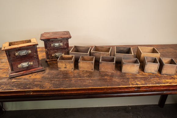 Lot of Chinese Apothecary Drawers/Boxes