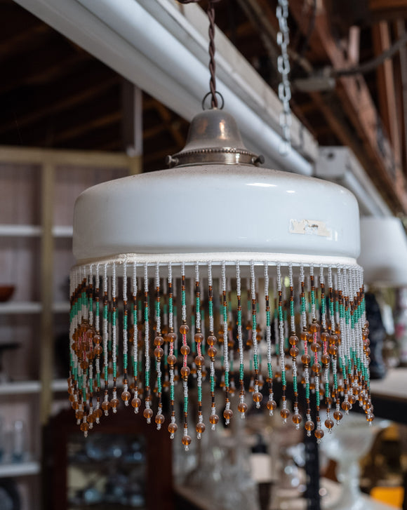 Multi-Color Beaded Light Fixture