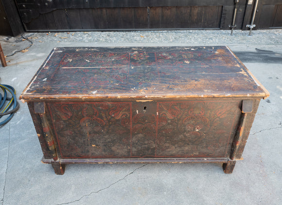 Antique Multi Color Trunk From the Czech Republic Circa 1895