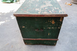 Antique Green Painted Trunk From Czech Republic Circa 1880