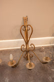 French Iron Wall Sconce Set of 3