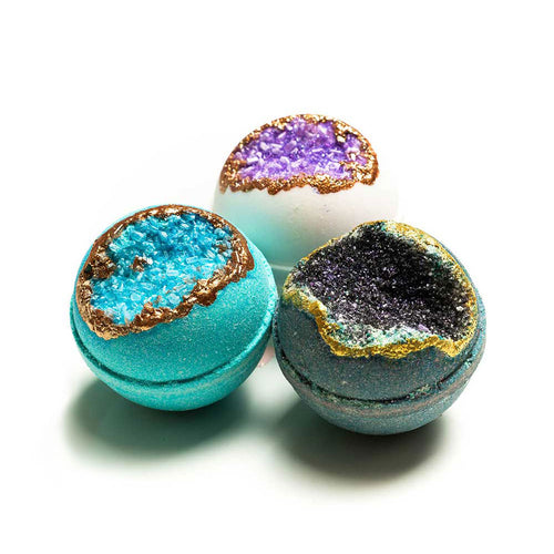 Calm and Relax Geode Bath Bomb Set