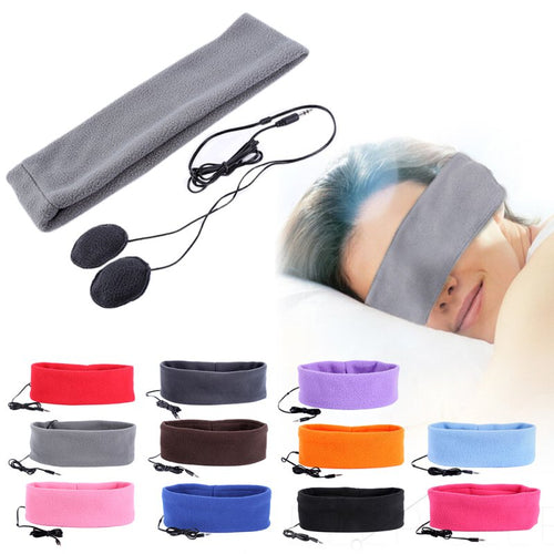 Fleece Headband with Headphones