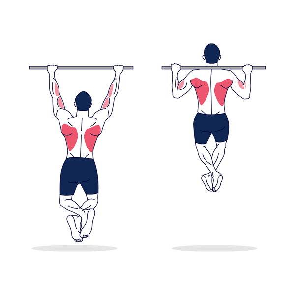 Behind the Neck Pull Up Illustration