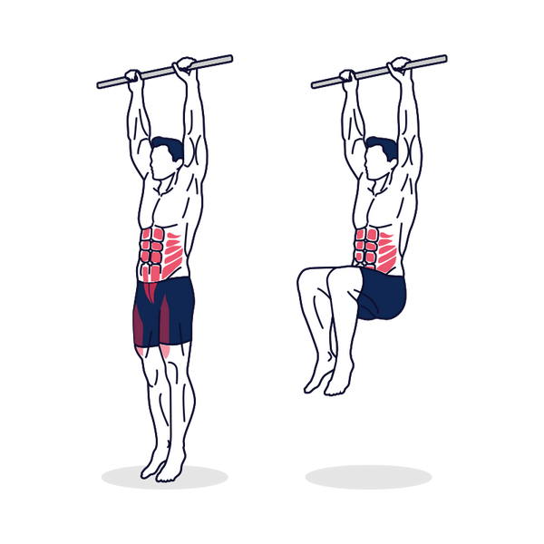 Hanging Leg Raise Illustration