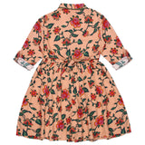 Kid Girls Spring Floral Peach Dress