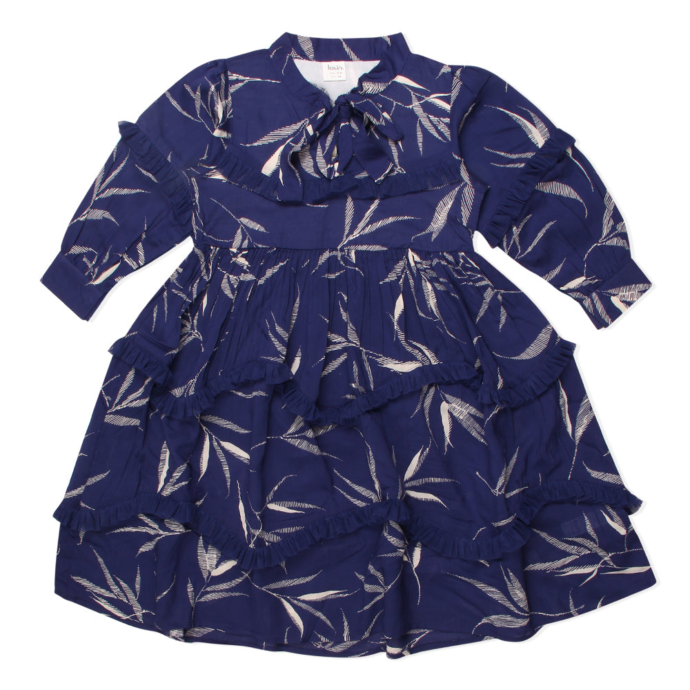 Kid Girls Printed Decorative Dress