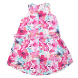 Kid Girls Decorative Floral Dress