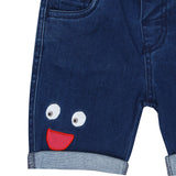 Baby Boys Denim ''Peek a boo'' Shorts