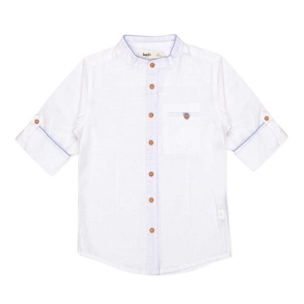Kid Boys Classic Grandad Shirt