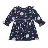 Baby Girls Navy Floral Dress