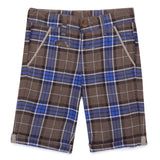 Baby Boys Brown Check Shorts