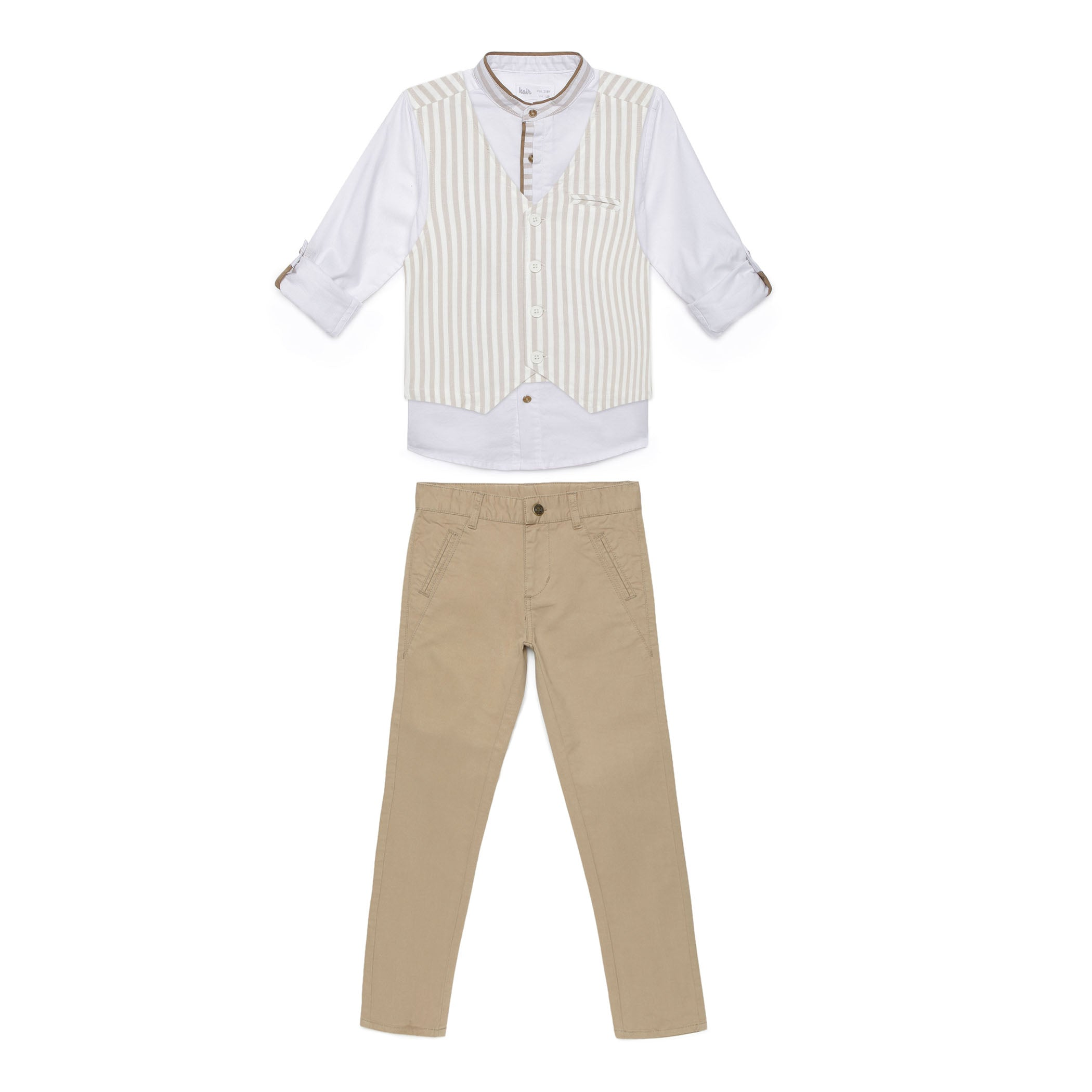 Kid Boys Solid Khaki Pant