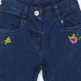 Baby Girls Embroidered Denim Pant