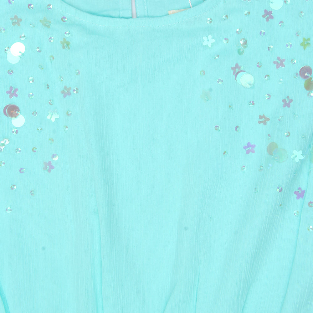 Girls Kimono Sleeve Sequins Dress