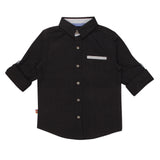 Baby Boys Tiny Polka Black Shirt