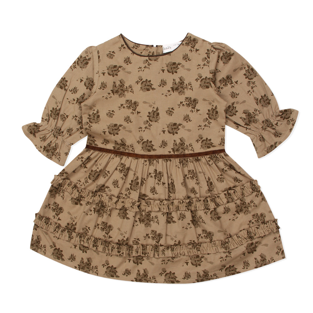 Girls Decorative Printed Dress