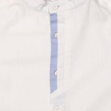 Kid Boys Grandad Collar White Shirt