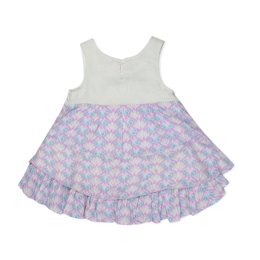 Baby Girls Sleeveless Lavender Dress