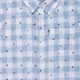 Baby Boys Blue Printed Shirt