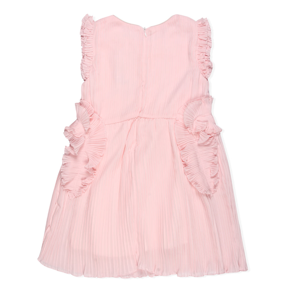 Girls Pleated Party Dress