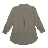 Kid Girls Olive Long Top