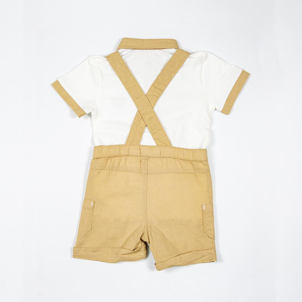 Baby Boys Dungaree with Polo T-shirt