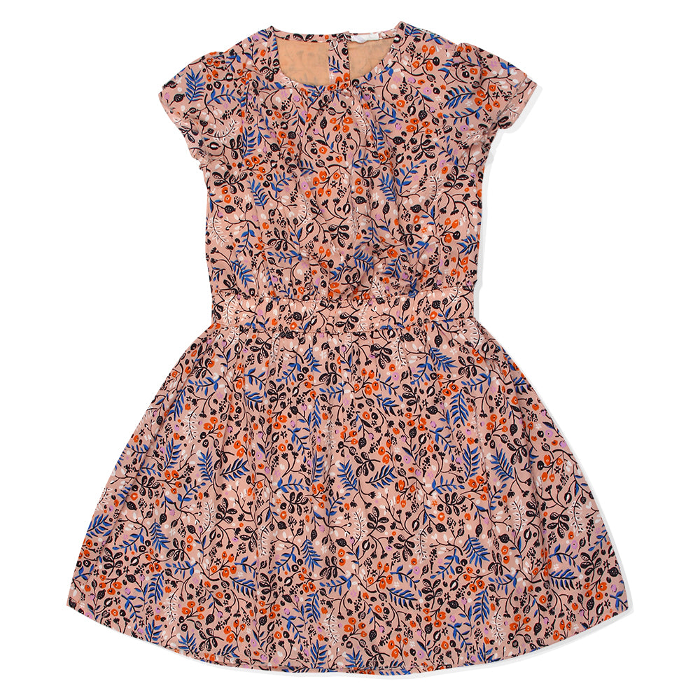Kid Girls Peach Floral Dress
