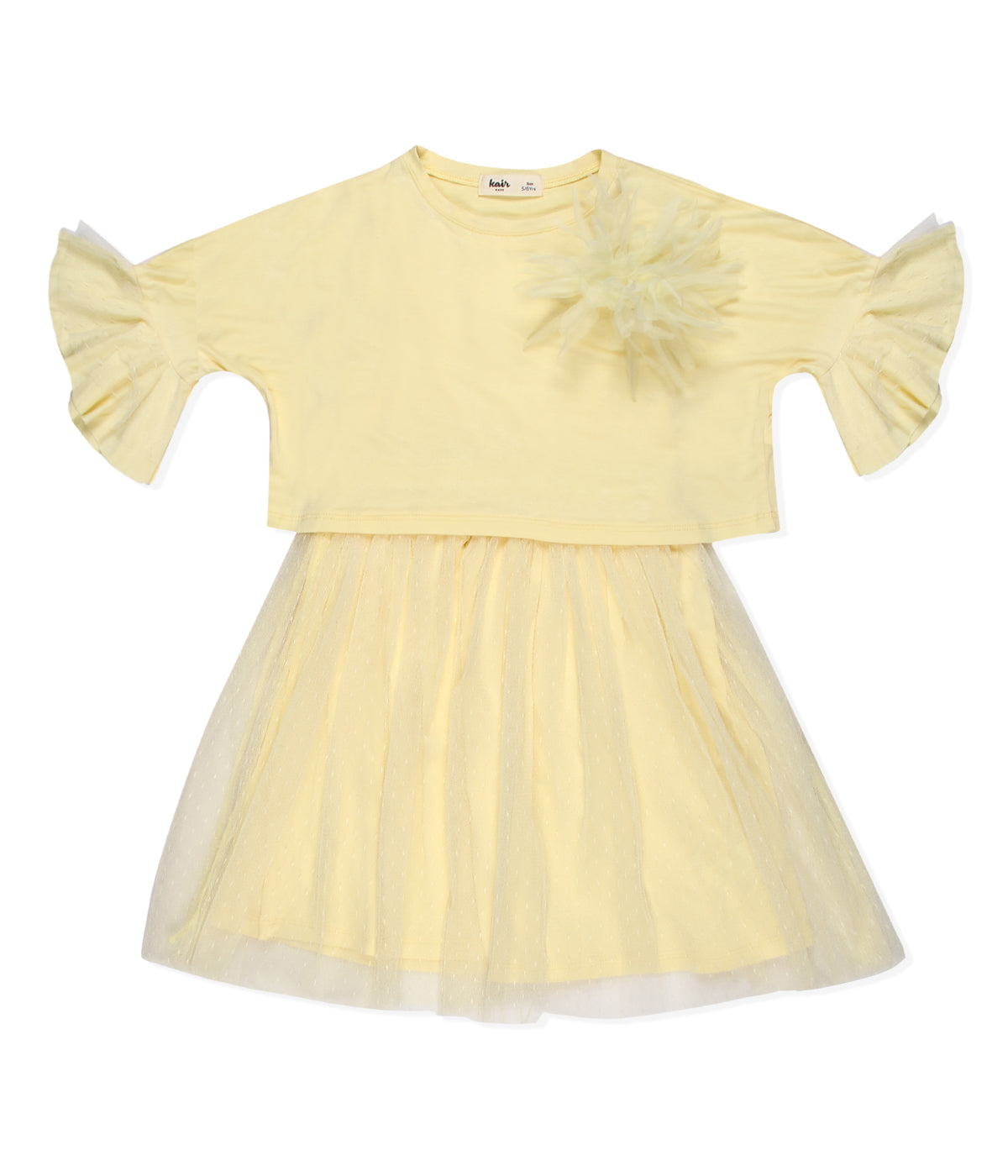 Kid Girls Party dress with crop top
