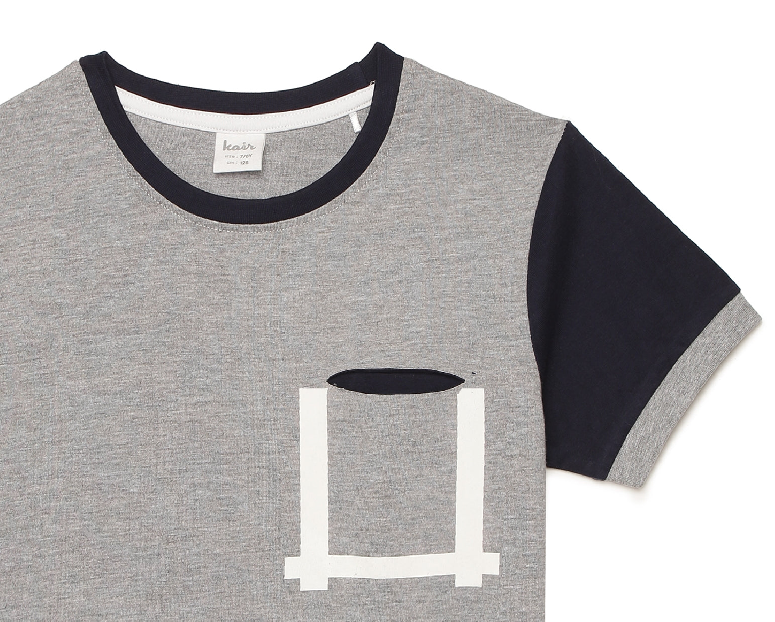 Kid Boys Contrast Sleeve Graphic T-Shirt