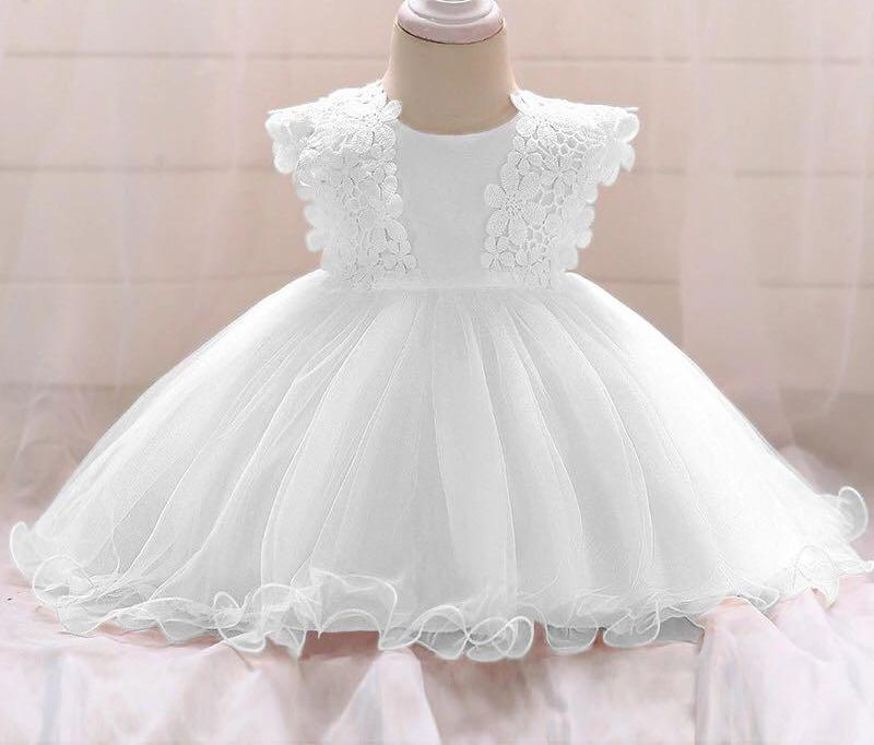 Baby Girls White Party Dress