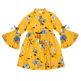Kid Girls Three Quartered Sleeve Dress