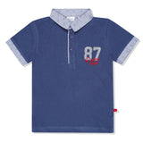 Baby Boys Navy Polo T-Shirt