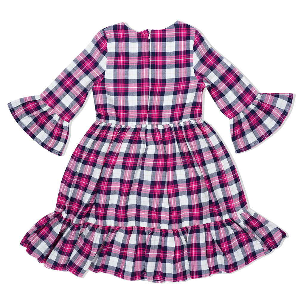 Kid Girls Check Dress