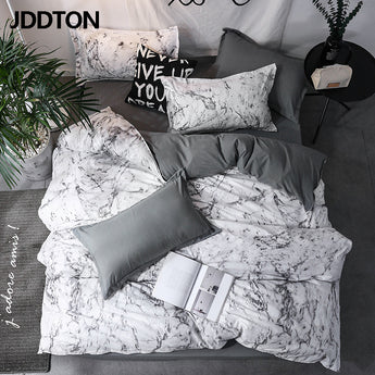JDDTON New Arrival Classical Double sided Bed Linings Concise Style Bedding Set Quilt Cover Pillowcase Cover Bed BE031