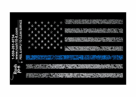 Blue Line Flag Sticker