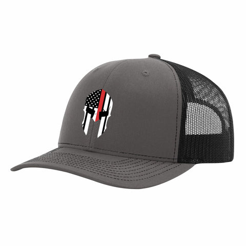 Red Line Spartan Mesh Back Trucker Hat