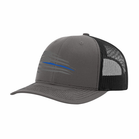 Charcoal Grey Truckers Snap Back Hat