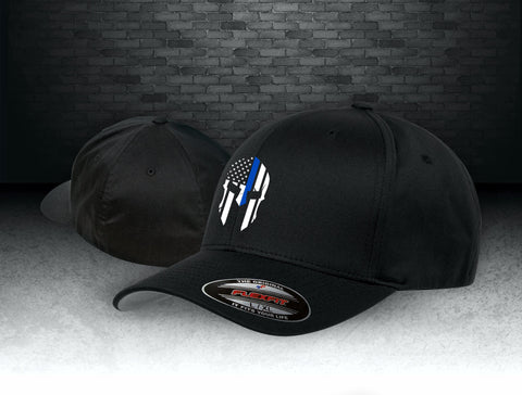 Flexfit Blue Line Spartan Hat