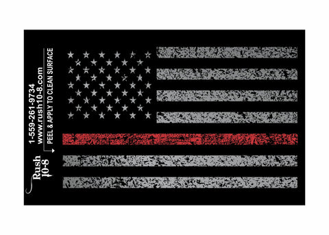Red Line Flag Sticker