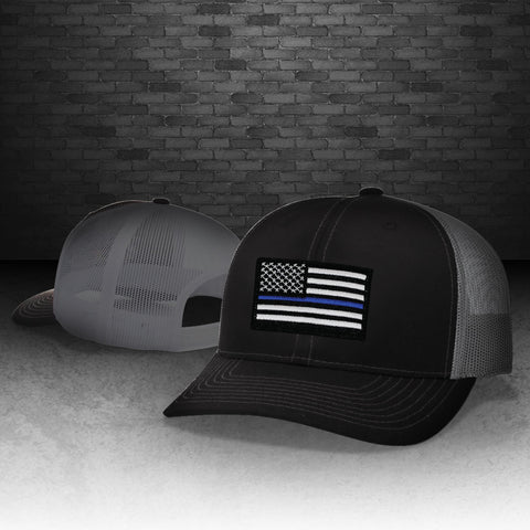 Thin Blue Line Trucker Snap Back Hat