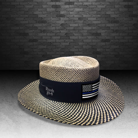 Blue Line Golfing Straw Hat