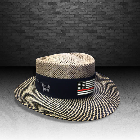 Red Line Golfing Straw Hat